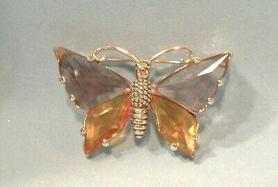 $ CDN31.25 • Buy Estate Gorgeous  M.x. Open Back Stone Butterfly Brooch. Ex. Cond.