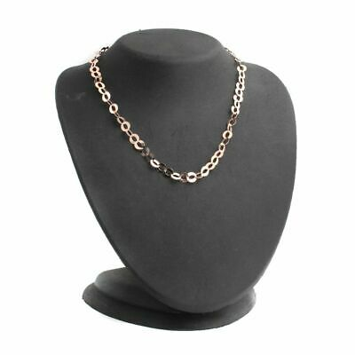 $ CDN15.04 • Buy QVC Bronzo Italia Rose Bronze Flat Round Link Chain 16  Necklace SOLD OUT
