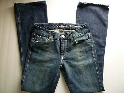 AU40.70 • Buy 7 For All Mankind  A  Pocket Womens Jeans Size 27 Low Rise Distressed -M20@