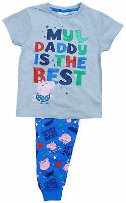 £9.99 • Buy Boys George Pig My Daddy Is The Best Pyjamas 18 Months To 5 Years