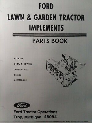 AU182.92 • Buy Ford Lawn Garden Tractor Implements Parts Manual 80 100 120 140 LGT 125 145 165