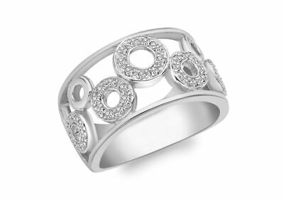 AU1025.20 • Buy 9ct White Gold 0.25ct Pave Set Diamond Circle Pattern Ring