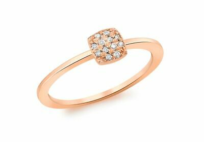 AU483.41 • Buy 9ct Red Gold Cushion Pave Set Diamond Ring