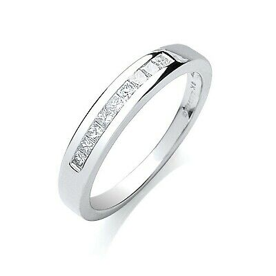 AU1102.16 • Buy 9ct White Gold 0.25ct Princess Cut Diamond Eternity Ring