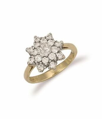 AU471.23 • Buy 9ct Yellow Gold Cluster Ring 15mm