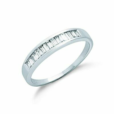 AU1793.39 • Buy 9ct White Gold 0.50ct Baguette Cut Diamond Eternity Ring
