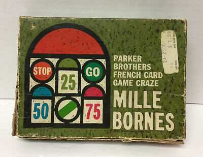 $5 • Buy 1962 Mille Bornes Parker Brothers French Card Game