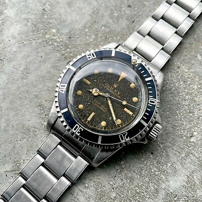 $ CDN28999 • Buy 1960 Rolex Submariner 5512 Pointed Crown Guards  PCG - Tropical Dial