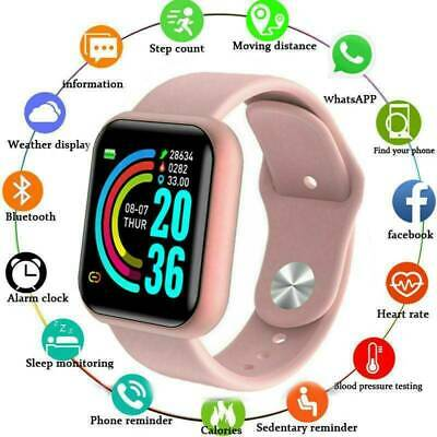 AU12.98 • Buy Touch Bluetooth Smart Watch Heart Rate Blood Pressure USB For Iphone Android AU