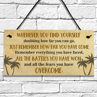 £3.99 • Buy Encouragement Inspirational With Quotes Gifts Wall Hanging Plaque Sign Birthday