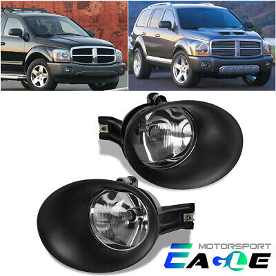 $35.99 • Buy 2004 2005 2006 Dodge Durango/2002-2008 Ram 1500/2500/3500 Glass Fog Lights Pair