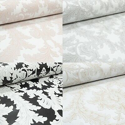 £10.95 • Buy Glitter Damask Floral Wallpaper Paste The Wall Textured Heavy Vinyl Feature Wall