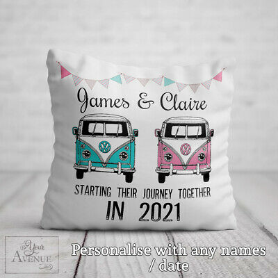 £21.99 • Buy MR & MRS Cushion Vintage Campervan Wedding Gift Bride Groom Engagement Present