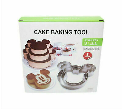 £3.90 • Buy Mickey Mouse Birthday Cake Design Baking Cutter Kitchen Tools Different Shape