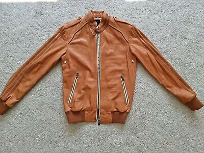 £300 • Buy Adidas Vespa 300 Leather Jacket  60th Anniversary  - Size Small - Extremely Rare