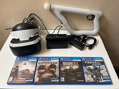AU533.03 • Buy PS4 PlayStation 4 VR (PSVR) Headset (V2) With Camera, Aim Controller Plus Games