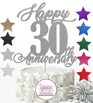 £2.99 • Buy Personalise Year Love Happy Wedding Anniversary Cake Topper 10th 20 25 30 40 50