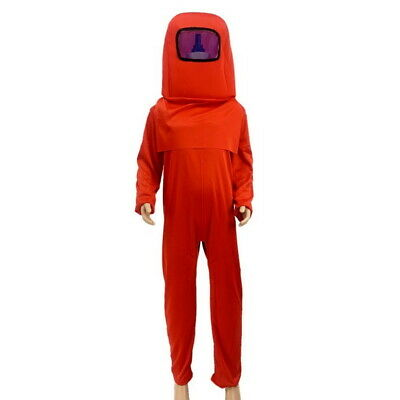 $29.94 • Buy Crewmate Imposter Costume Child Among Us Red Jumpsuit Group Cosplay Space Suit