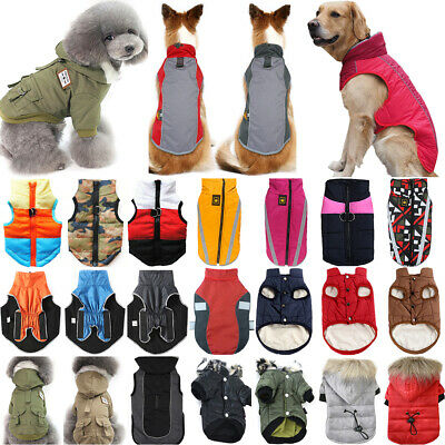 Pet Dog Puppy Winter Warm Padded Jacket Fleece Coat Vest Apparel Clothes Hoodie • 5.60£