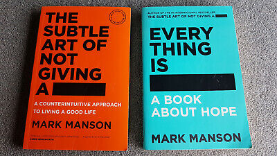 AU25 • Buy 2 Books! **The Subtle Art Of Not Giving A F*Ck: * PLUS *   Everything Is F*Cked.