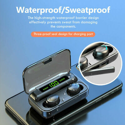 $ CDN23.38 • Buy Bluetooth Earbuds For IPhone Samsung Android Wireless Earphone IPX7 WaterProof