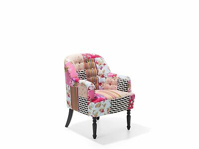 £239.99 • Buy Mid-Century Modern Patchwork Armchair Tufted Back Mandal