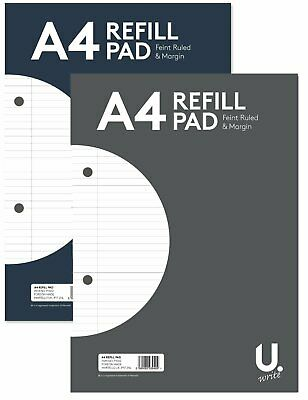 £1.99 • Buy UDOT A4 Refill Pad ( Feint Ruled And Margin )Writing Notebooks