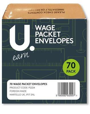 £2.49 • Buy Udot Wage Packet Envelopes - Pack Of 70 Pieces