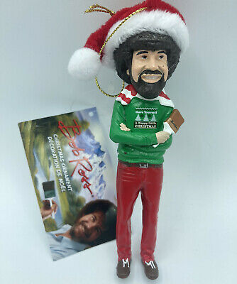 £11.32 • Buy Bob Ross With Hat 5  Blow Mold Ornament Santa Christmas Sweater Paint Brush New