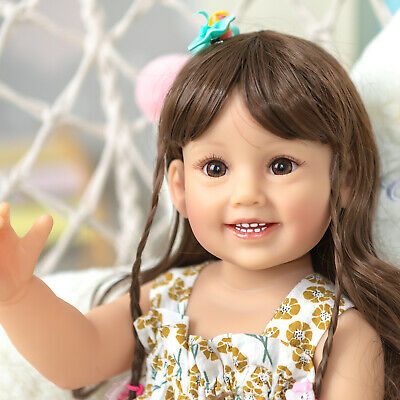$ CDN93.73 • Buy 22'' Smile Sweet Girl Doll Realistic Reborn Baby Dolls Full Vinyl Kids Toys Gift