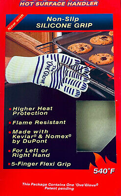 £4.95 • Buy Oven Gloves BBQ Single Kitchen Heat Proof Silicon Mitts Hot Surface Handler