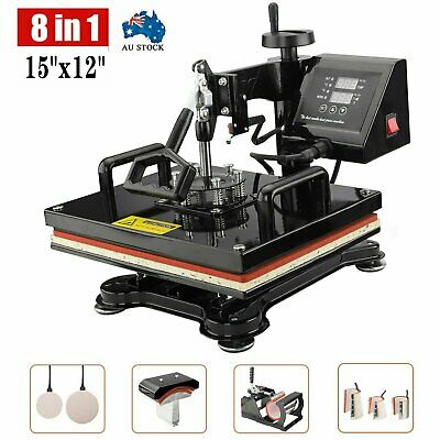 AU280.99 • Buy 8 In 1 Heat Press Transfer T-Shirt Mug Hat Sublimation Printer Printing Machine