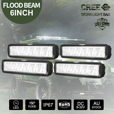 AU19.99 • Buy DEFEND INDUST 6inch LED Light Bar CREE Offroad 4X4 Work Light Flood Beam