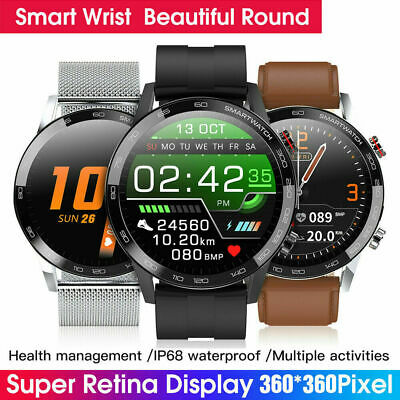 AU48.69 • Buy Sporty Smart Watch Men ECG+PPG Vibration Blood Pressure Heart Rate Monitor Gifts