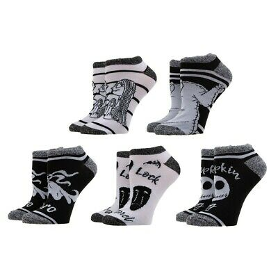 $18.99 • Buy The Nightmare Before Christmas 5 Pair Ankle Socks Pack X-Mas Holiday Gift Set
