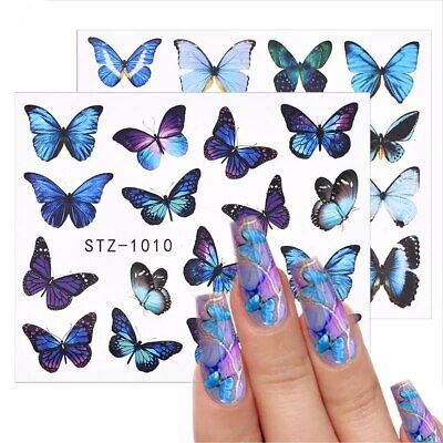 AU2.99 • Buy Nail Art Water Decal Transfer Butterfly Nail Art Stickers