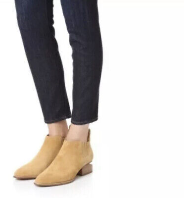 AU122.30 • Buy Alexander Wang Gently Preowned Light Tan Suede Kori Ankle Bootie Size 38