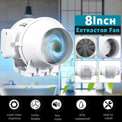 AU67.32 • Buy 4/6/8  Inch Hydroponic Inline Exhaust Industrial Vent Silent Fan Extractor Duct