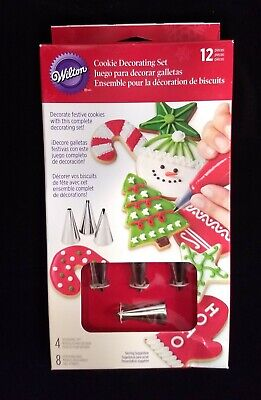 £7.17 • Buy Wilton 12 Piece Cookie Frosting Decorating Set - 4 Tips 8 Bags - Cake Cupcake