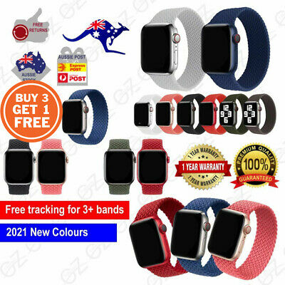 AU9.45 • Buy For Apple Watch 6 5 4 3 SE 38/40/42/44 Mm Nylon Band Braided Solo Loop Strap