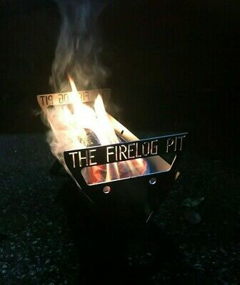£44.99 • Buy # The Firelog Pit # Firepit Fire Pit Portable Camping Collapsible Carry Handle