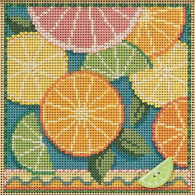 $12.99 • Buy Mill Hill Spring Buttons & Beads Counted Cross Stitch Kit ~ Citrus ~ MH142111