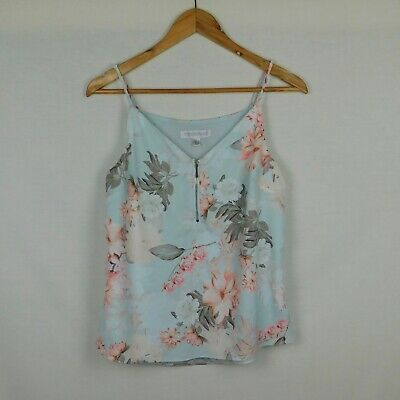 AU14.95 • Buy Size 8 FOREVER NEW Cami Top - Blue Floral