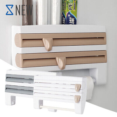 £9.89 • Buy Cling Film And Kitchen Foil Dispenser Paper Towel Roll Holder Wall Mounted Rack