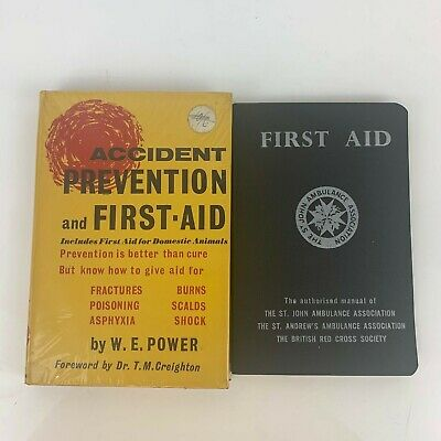 £18.36 • Buy Vintage First Aid Books St John Ambulance Manual/Accident Prevention 1950s 1960s