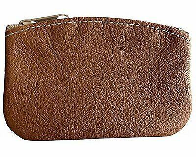 $8.99 • Buy Classic Men's Large Coin Pouch Genuine Leather, Zippered Change Purse By Nabob