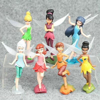 £7.99 • Buy 6/7 Pcs Tinkerbell Fairies Wing Fairy Playset Action Figure Cake Topper Toy Set