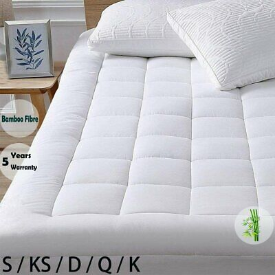 AU59.99 • Buy 1000GSM Pillowtop Mattress Topper Luxury Bedding Mat Pad Protector Cover AllSize