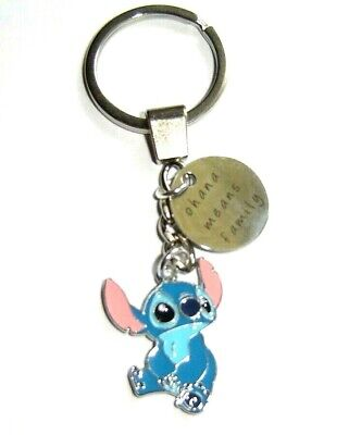 £3.99 • Buy Lilo & Stitch Keyring Stitch & Ohana Means Family Charm Quote Charm In Gift Bag