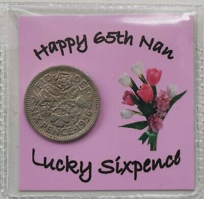 £2.99 • Buy 65th Birthday Nan Sixpence Gift *1956 Coin* -  1st Class P&p Included